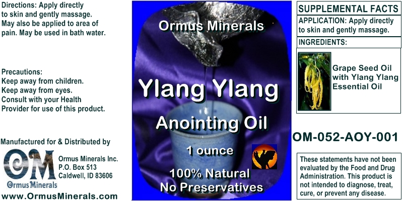 Ormus Minerals Ylang Ylang Anointing Oil 1 oz